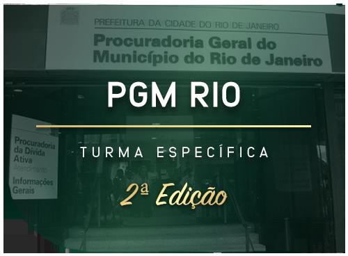 PGM RIO - 2ª Edição da Turma Específica